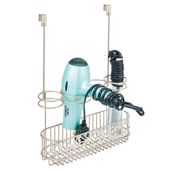 Over the Cabinet Door Hair Care & Styling Tool Basket
