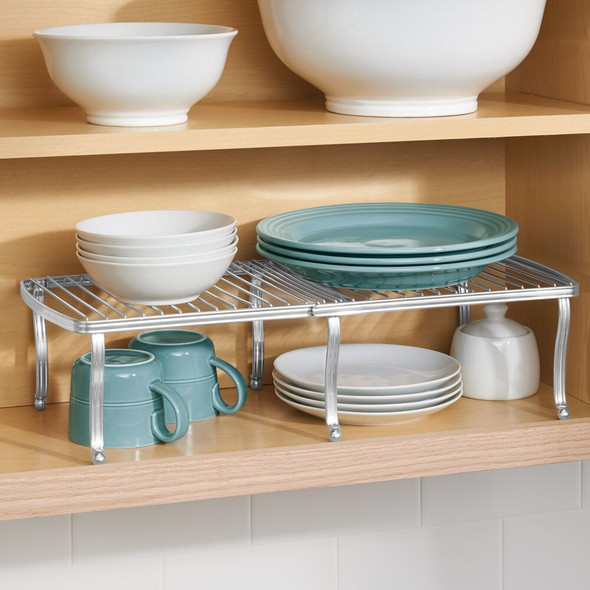Expandable Kitchen Cabinet and Pantry Storage Shelf