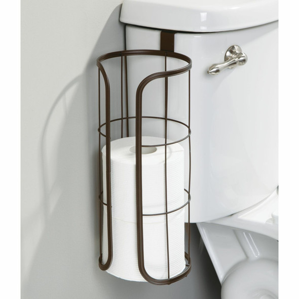Metal Wire Over Tank Toilet Tissue Paper Roll Holder & Dispenser - 3 Rolls