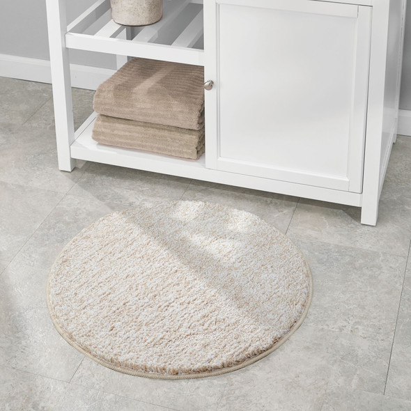 "Microfiber Round Bathroom Rug - 24"" Diameter"