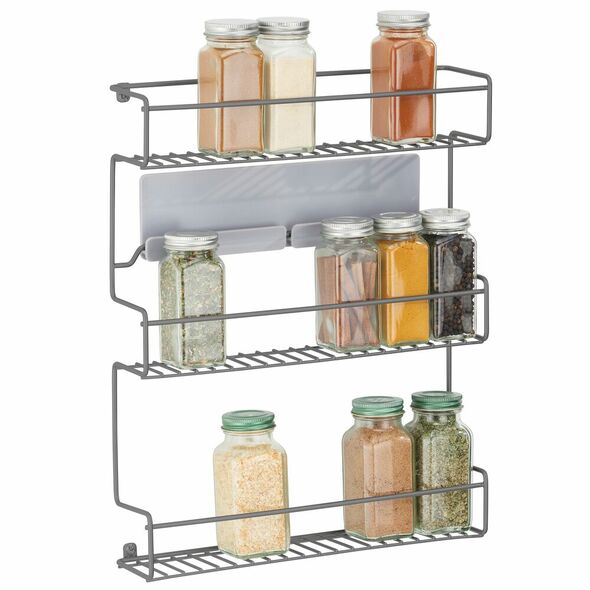 3 Tier Adhesive Wall Mount Kitchen Spice Rack
