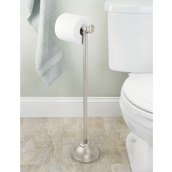 Metal Toilet Tissue Paper Roll Dispenser Stand