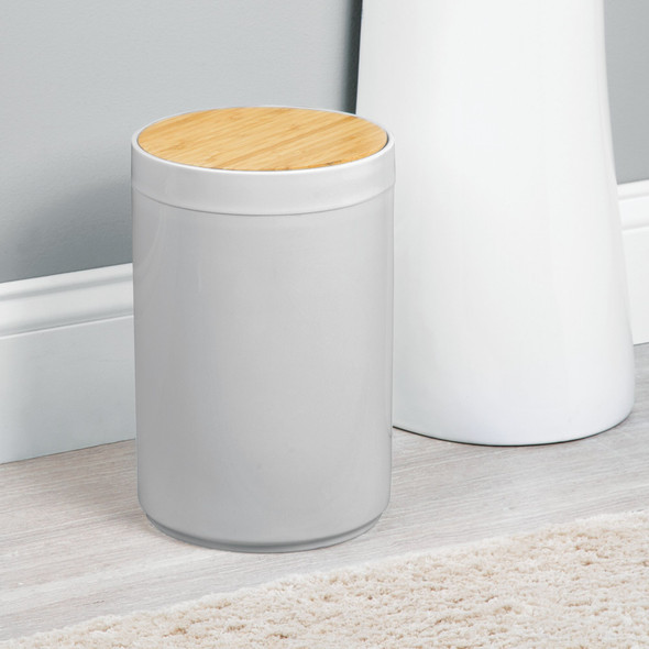 Small Plastic Trash Can Garbage Bin with Swing Lid