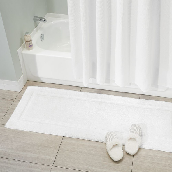 Cotton Spa Bath Mats with Border - Set of 3