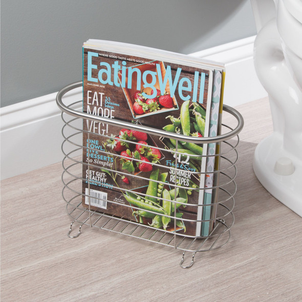 Free Standing Bathroom Magazine Rack / Newspaper Stand - Pack of 2