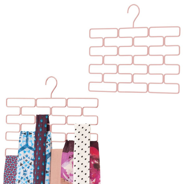 Hanging Accessory and Scarf Holder, Closet Organizer - 18 Sections