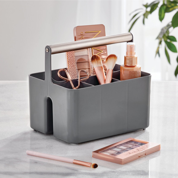 Plastic/Metal Bathroom Storage Organizer Caddy Tote
