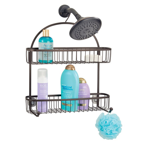Wide Metal Bathroom Shower Caddy