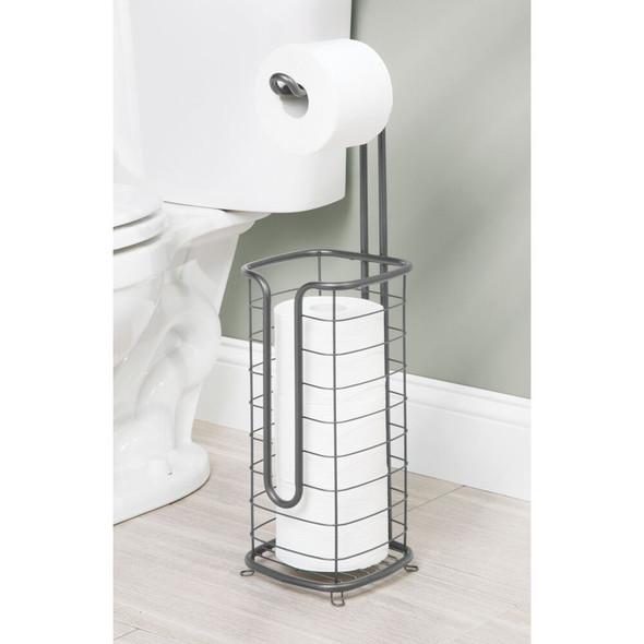Square Toilet Tissue Paper Roll Holder & Dispenser