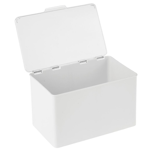 Plastic Stacking Household Bin Box with Hinged Lid