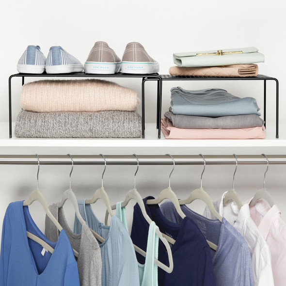 Metal Expandable Closet Organizer Storage Shelf
