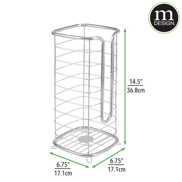 Tall Metal Toilet Tissue Paper Holder Stand
