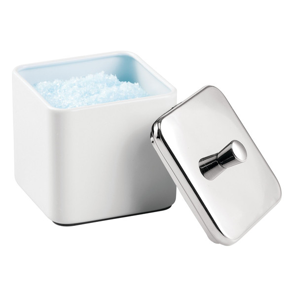 Square Metal Bathroom Vanity Storage Canister Jar - Pack of 2