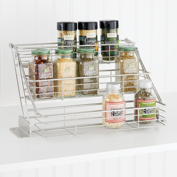 Metal Pull Down Kitchen Cabinet Spice Rack Organizer