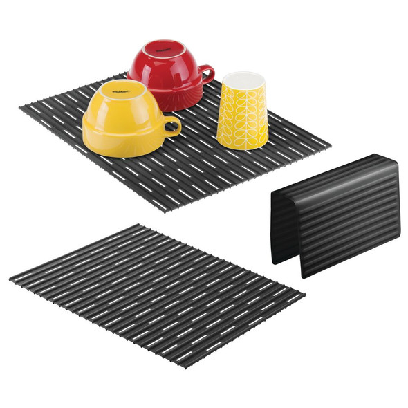 Double Sink Silicone Protector Mats and Saddle for Kitchen