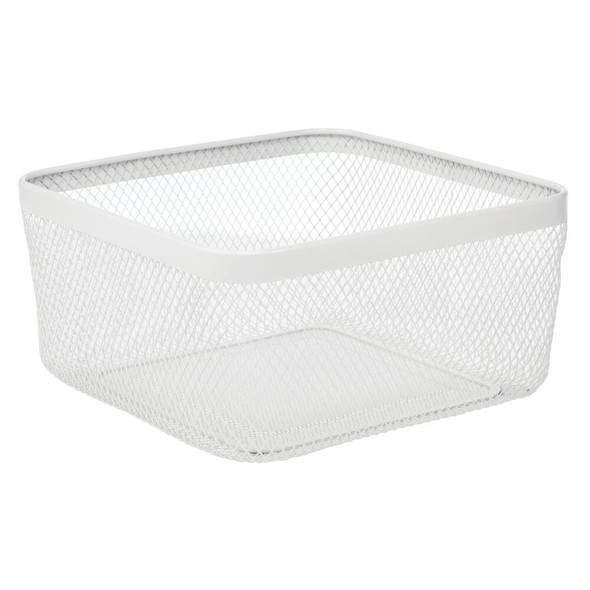 "Metal Wire Basket for Kitchen Food Storage - 12"" x 12"" x 6"""