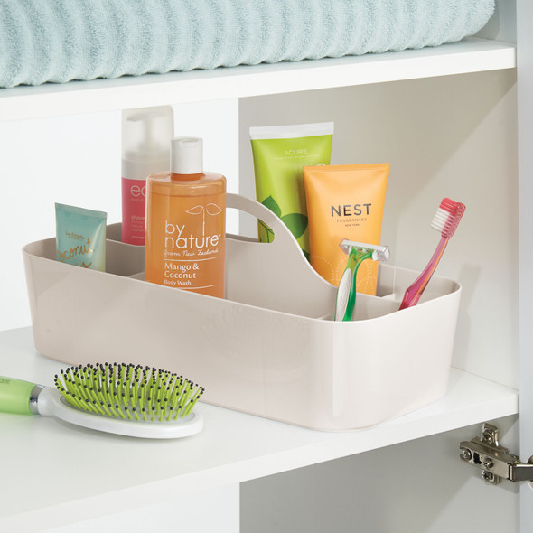 Large Plastic Bathroom Storage Caddy Tote