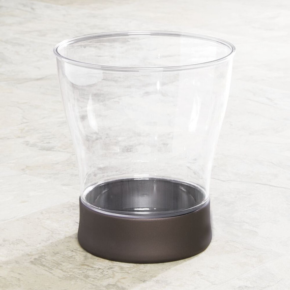 Small Curved Home Trash Can Wastebasket Garbage Bin