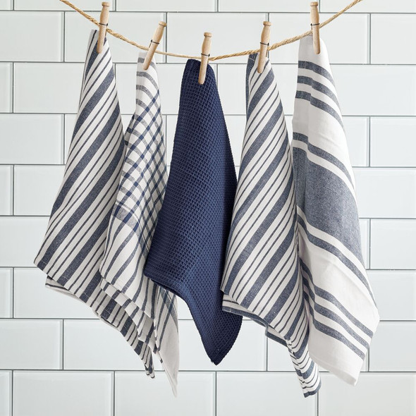 Kitchen Towel Set, Striped Pattern, Set of 5