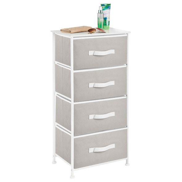 4 Drawer Dresser with White Accents