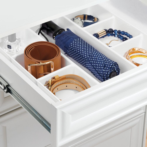 7 Section Plastic Dresser Drawer Organizer Tray