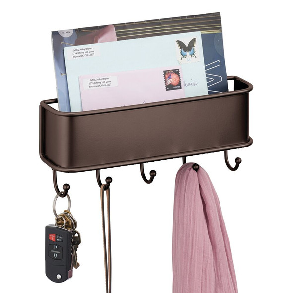 Metal Wall Mount Storage Basket Mail Sorter