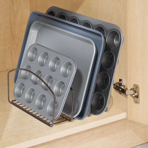 3 Compartment Metal Pot and Pan Organizer Rack for Kitchen Cabinet
