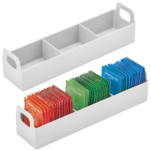 Tea Bag Holder and Condiment Accessory Organizer with Handles