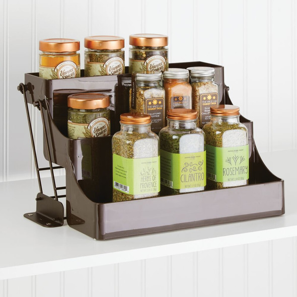 Pull Down Kitchen Cabinet Spice Rack Organizer