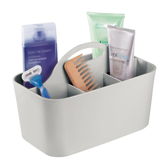 Plastic Divided Grooming Storage Caddy - Pack of 2