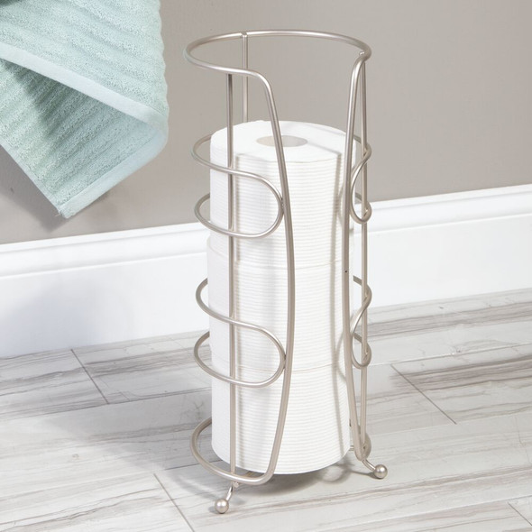 Upright Tall Toilet Paper Holder Stand and Dispenser