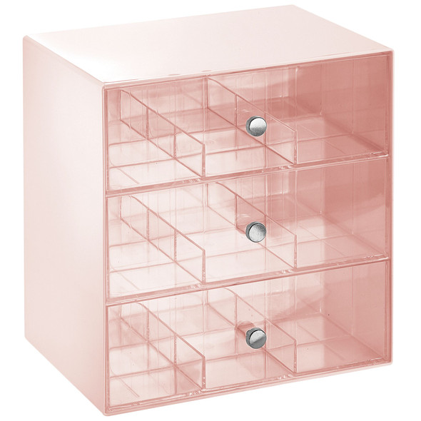3 Drawer Plastic Makeup Cosmetic Organizer, 27 Sections