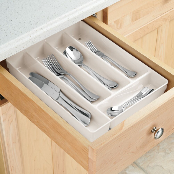 Plastic Kitchen Drawer Organizer, 5 Sections