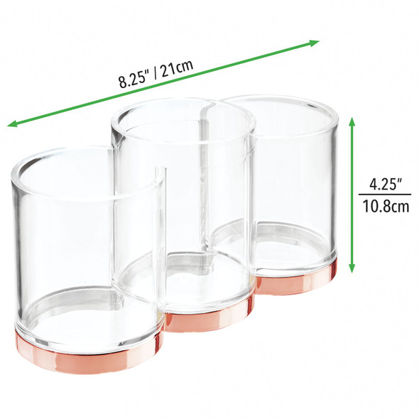 3 Section Makeup Brush Holder Vanity Desk Organizer