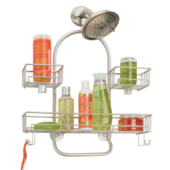 Wide Metal Bathroom Hanging Storage Shower Caddy