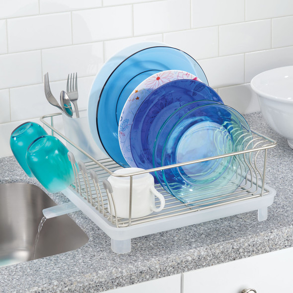 Large Kitchen Sink Dish Drying Rack, Swivel Spout