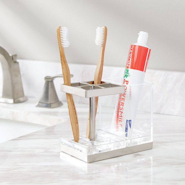 Countertop Toothbrush Holder and Bathroom Center Stand