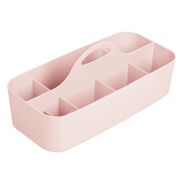 Large Plastic Bathroom Vanity Makeup Storage Caddy with Handle