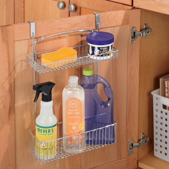 Hanging Over Cabinet Door Kitchen Storage with 2 Baskets