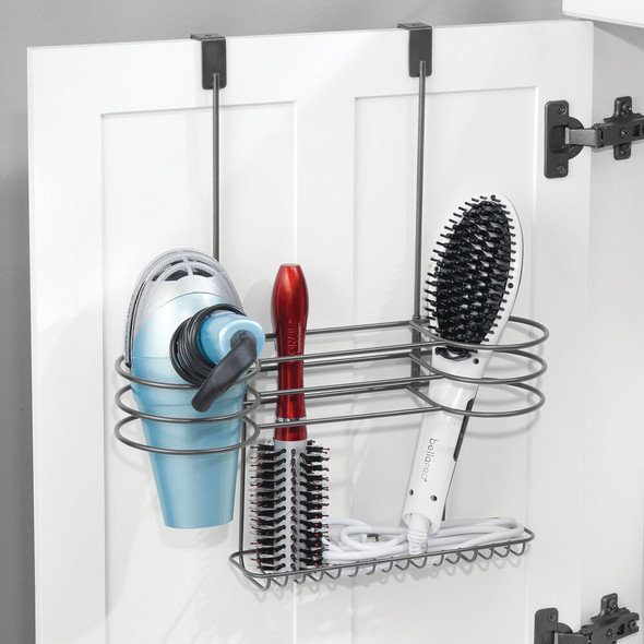 Over Cabinet Door Hair Styling Tool Rack Holder