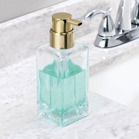 Square Glass Refillable Foaming Soap Dispenser Pump