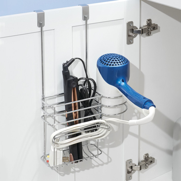 Over Cabinet Door Hair Dryer and Tool Rack Holder