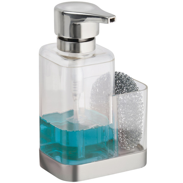 Plastic Kitchen Counter Soap Pump with Sponge Caddy