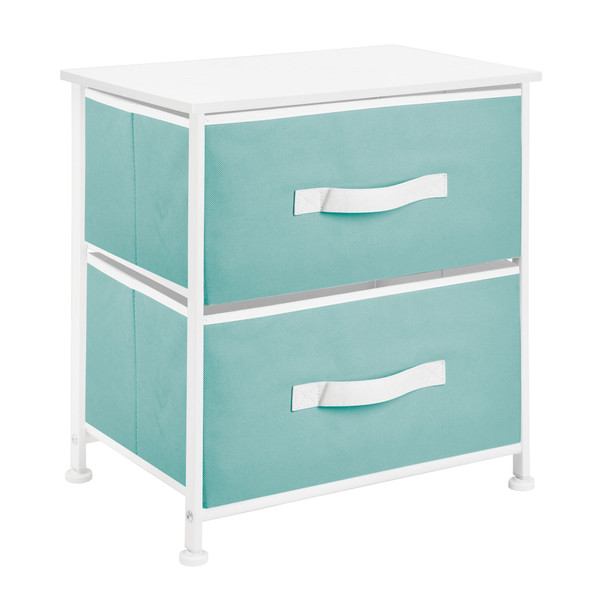 2 Drawer Night Stand Table with Fabric Drawers