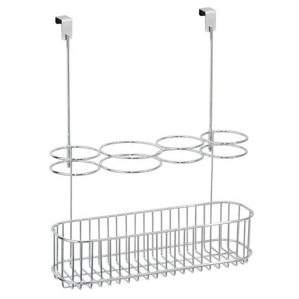 Over Cabinet Door Hair Styling Tool Storage Basket