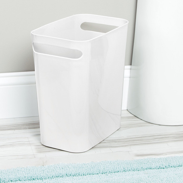 "Small Plastic Slim Trash Can, 12"" High - Pack of 2"