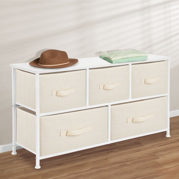 5 Drawer Wide Dresser Organizer for Baby + Kids Room