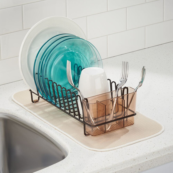 Compact Metal Kitchen Sink Dish Drying Rack