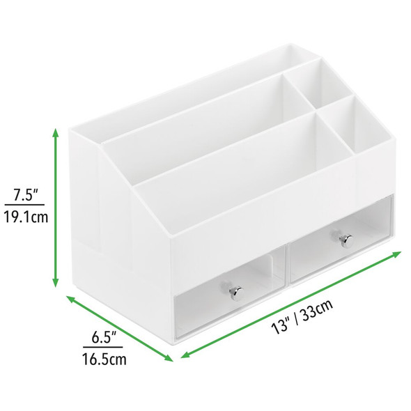 2 Drawer Plastic Nail Polish Storage Organizer