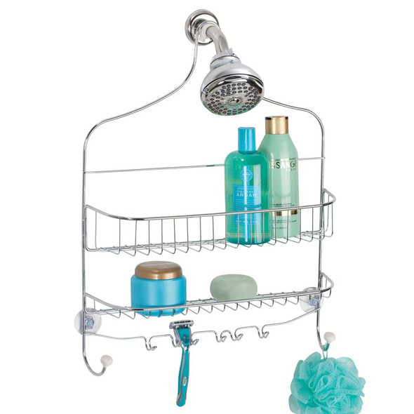 Extra Wide Bathroom Tub Shower Caddy Hanging Storage